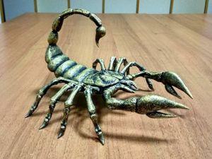 Делаем красавца скорпиона из ничего. Ярмарка Мастеров - ручная работа, handmade.