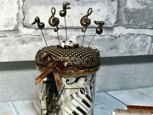 Мастер-класс по созданию музыкальной шкатулки-игольницы. Ярмарка Мастеров - ручная работа, handmade.