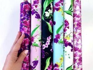 Новая коллекция американского хлопка! Орхидеи. Ярмарка Мастеров - ручная работа, handmade.