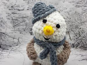 Вяжем снеговика из Alize Puffy. Ярмарка Мастеров - ручная работа, handmade.