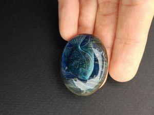 Кабошон  «Чудо океана». Ярмарка Мастеров - ручная работа, handmade.