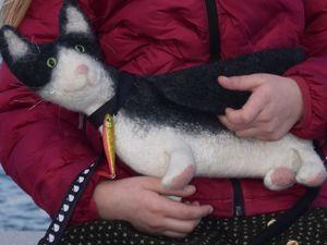 Сумочка — кот Василий. Ярмарка Мастеров - ручная работа, handmade.