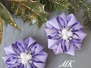 Создаем бантик-цветок из лент. Ярмарка Мастеров - ручная работа, handmade.