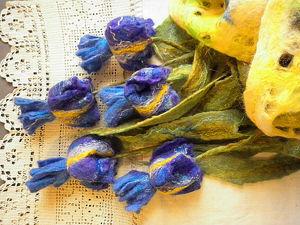 Весенние синие ирисы или ирисы Ван Гога. Ярмарка Мастеров - ручная работа, handmade.