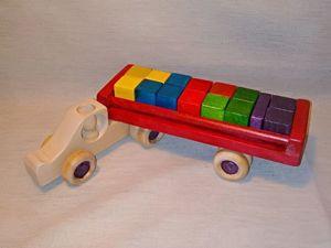 Встречайте: обновленная машинка Кубовоз!. Ярмарка Мастеров - ручная работа, handmade.
