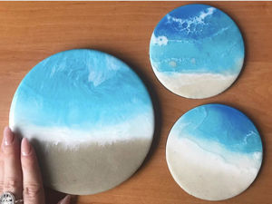Продлеваем лето! Море в стиле Resai art. Ярмарка Мастеров - ручная работа, handmade.
