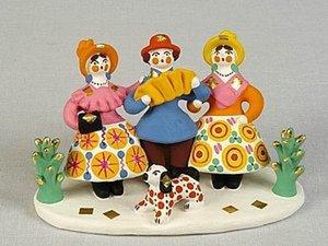 Старинный промысел России - дымковская игрушка. Ярмарка Мастеров - ручная работа, handmade.