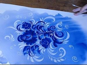 «Морозные узоры»: выполняем роспись гуашью и акварелью. Ярмарка Мастеров - ручная работа, handmade.