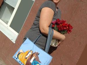 Отзыв от Ирины Л. на сумку  «Краса и Буря». Ярмарка Мастеров - ручная работа, handmade.