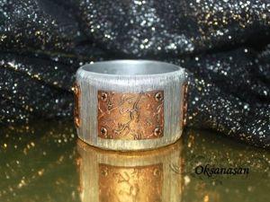 Лепим «металлический» браслет из полимерной глины. Ярмарка Мастеров - ручная работа, handmade.