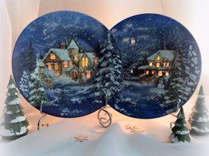 Только сегодня щедрая скидка на рождественские тарелки подсвечники!!!. Ярмарка Мастеров - ручная работа, handmade.
