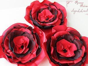 "Изготавливаем цветок из ткани ""Кармен"". Ярмарка Мастеров - ручная работа, handmade."