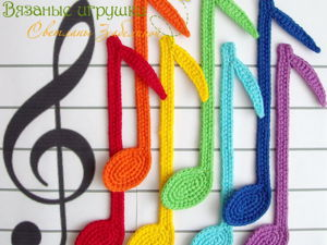 Crocheting ''Color Notes'' Bookmarks. Livemaster - handmade