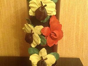 Декорируем вазу цветами. Ярмарка Мастеров - ручная работа, handmade.