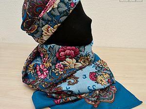 Русский стиль —  шьем шапку и палантин. Ярмарка Мастеров - ручная работа, handmade.