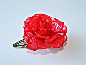 Создаем заколку с розой из материала «Витраль». Ярмарка Мастеров - ручная работа, handmade.