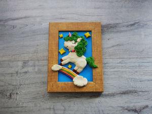 Лепим картину «Единорог» из пластилина. Ярмарка Мастеров - ручная работа, handmade.