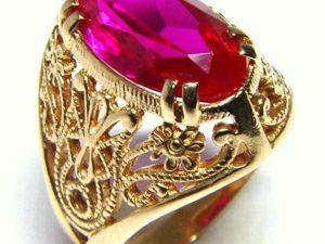 Определение натуральности камней в золотых изделиях периода СССР. Ярмарка Мастеров - ручная работа, handmade.