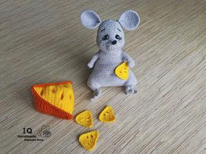 Мыша с сыром. Ярмарка Мастеров - ручная работа, handmade.