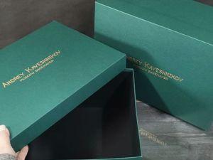 Упаковка с нестандартными цветовыми решениями и фирменным логотипом. Ярмарка Мастеров - ручная работа, handmade.