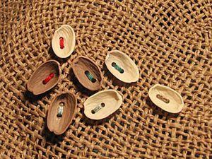 Let's Make Buttons of Pistachio Nut Shells. Livemaster - handmade