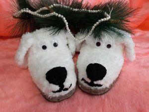Создаем милые тапочки-собачки. Ярмарка Мастеров - ручная работа, handmade.