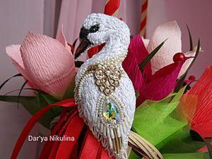 Создаем шикарную брошь «Лебедь». Ярмарка Мастеров - ручная работа, handmade.