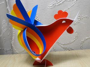 Делаем из бумаги дизайнерского петушка. Ярмарка Мастеров - ручная работа, handmade.