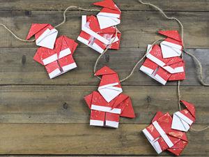 Новогодняя гирлянда из бумаги своими руками. Ярмарка Мастеров - ручная работа, handmade.