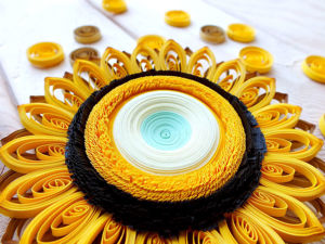 How to Make a Stylized Sunflower in Quilling Technique. Livemaster - handmade