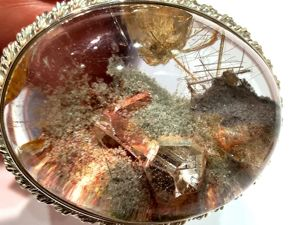 Видео кулона «Insolite» кварц с включениями,волосатик,серебро 925. Ярмарка Мастеров - ручная работа, handmade.