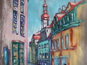 Графика, Прага, формат А4. Ярмарка Мастеров - ручная работа, handmade.