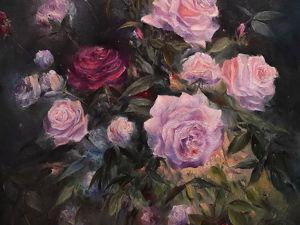 Мастер-класс по масляной живописи  «Розы». Ярмарка Мастеров - ручная работа, handmade.