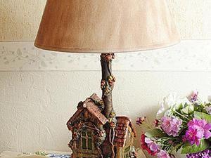 Лампа-дом из того, что под рукой. Ярмарка Мастеров - ручная работа, handmade.