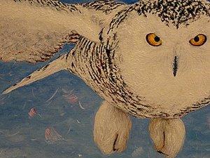 Холст, масло, кисть и белая сова!. Ярмарка Мастеров - ручная работа, handmade.