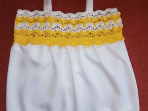 Вяжем летний топ для девочки (комбинированное вязание). Ярмарка Мастеров - ручная работа, handmade.