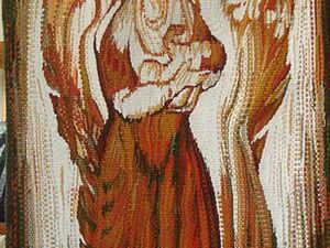 Ручное ткачество (Гобелен). Авторская дипломная работа «Материнство», мастер Белая Юлия Игоревна.. Ярмарка Мастеров - ручная работа, handmade.