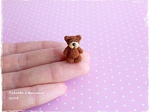 Мишка - малыш из полимерной глины. Ярмарка Мастеров - ручная работа, handmade.