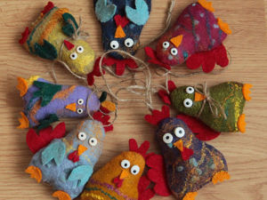 Веселые новогодние петушки. Мастерим с детьми. Ярмарка Мастеров - ручная работа, handmade.