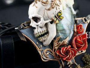 ВИДЕО. Кулон Sacrament из полимерной глины, череп, скульптурная миниатюра. Ярмарка Мастеров - ручная работа, handmade.
