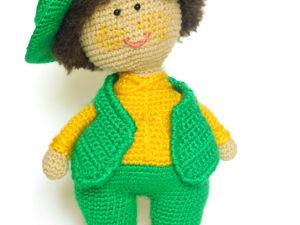Вязаная игрушка Мальчишка. Ярмарка Мастеров - ручная работа, handmade.