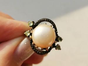 Видео кольца с жемчугом. Ярмарка Мастеров - ручная работа, handmade.