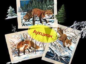 Аукцион на Набор Купонов  «Forest Fox»  .Ручная роспись. Ярмарка Мастеров - ручная работа, handmade.
