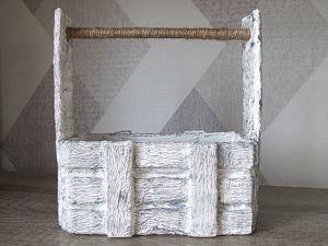 Ящик из картона своими руками! Имитация дерева. Ярмарка Мастеров - ручная работа, handmade.