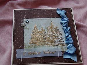 Мастер-класс: создаем открытку к Новому году. Ярмарка Мастеров - ручная работа, handmade.