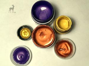 Краски с перламутровым оттенком. Ярмарка Мастеров - ручная работа, handmade.