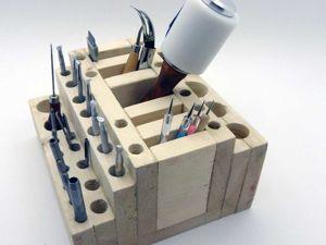Как смастерить удобную деревянную подставку для инструментов. Ярмарка Мастеров - ручная работа, handmade.