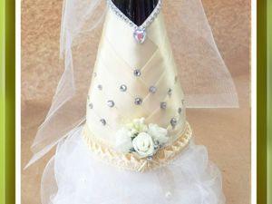 Съемная одежда для праздничной бутылки на свадьбу. Ярмарка Мастеров - ручная работа, handmade.