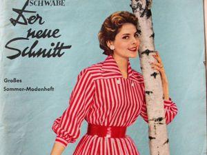 Der Neuer Schnitt — старый немецкий журнал мод -4/1957. Ярмарка Мастеров - ручная работа, handmade.