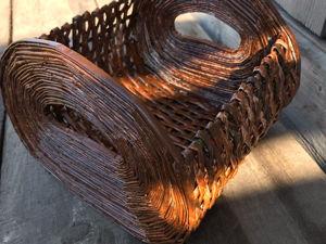 DIY Плетеная корзинка из газетных трубочек / Поделка из газеты. Ярмарка Мастеров - ручная работа, handmade.